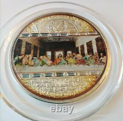 Cook islands 20 dollar 2008 Masterpieces of Art Last supper 3 Oz Silver box