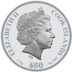Cook islands 2016 50$ Gods of Olympus 1 Kilo Silver. 999 Antique Finish Coin