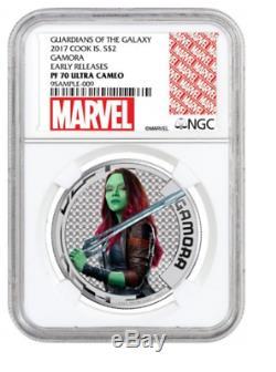 Cook islands marvel gamora. 999 silver coin marvel comics avengers PF PR 70 HOT