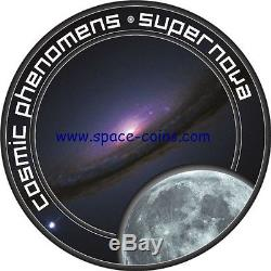 Cosmic phenomens! 7 piece set with box & COA, Cook Islands 2000, Galaxy, Nebula