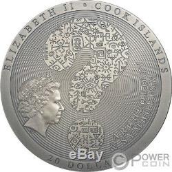 DENDERA Zodiac Archeology Symbolism 3 Oz Silver Coin 20$ Cook Islands 2020