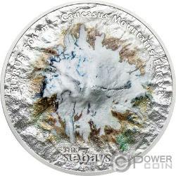 ELBRUS 7 Summits 5 Oz Silver Coin 25$ Cook Islands 2021