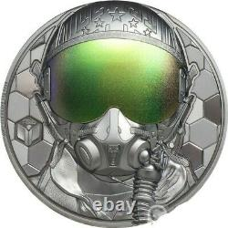 Fighter Pilot Real Heroes 3oz Silver Coin $20 Cook Islands 2020 Only 499 Mint
