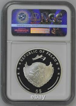 Four Leaf Clover 2018 Palau $5 Silver Coin Pf 70 Uc Er
