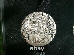 GODS of Olympus 2oz Silver Coins Antiqued finish x4 part 1