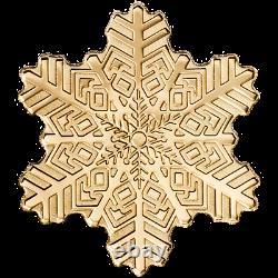 Golden Snowflake Goldmünze Cook Islands 0,5 g 9999 AU coin with COA & BOX