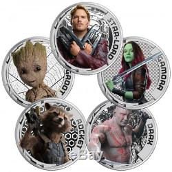 Guardians of the Galaxy Cook Islands Silver Coin Set FACTORY SEALED NEW LE 3000