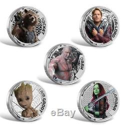 Guardians of the Galaxy Cook Islands Silver coin set Number 0004 of only 3000