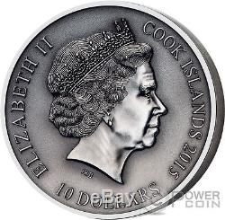 HEL Norse Gods High Relief 2 Oz Silver Coin 10$ Cook Islands 2015