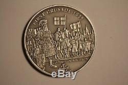 History Of The Crusades Cook Islands Nine Silver Coin Set