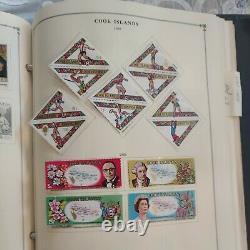 Huge worldwide stamp collection 1870fwd in Scott album. Columbia to Cook Islands