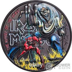 IRON MAIDEN The Number Of The Beast 1 Oz Silver Coin 5$ Cook Islands 2022