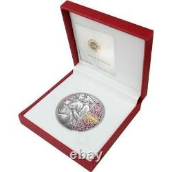 KAMA SUTRA MOMENTS OF LOVE II 2020 CAMEROON 3oz NGC MS 70 ANTIQUED