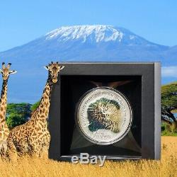 KILIMANJARO 7 SUMMITS 5 oz silver coin Cook Islands 2019 in OGP