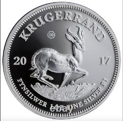 KRUGERRAND 2017 S. AFRICA 50th ANNIV PROOF S1RAND SILVER COIN NGC PF70 UC OGP