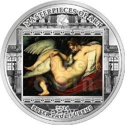 LEDA AND SWAN Peter Paul Rubens 3 Oz Silver Coin 20$ Cook Islands 2014