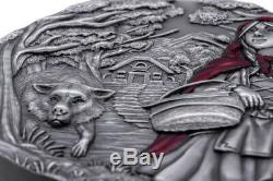 LITTLE RED RIDING HOOD 3 Oz Silver High Relief Coin $20 Cook Islands 2019