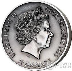 LOKI Norse Gods High Relief 2 Oz Silver Coin 10$ Cook Islands 2016