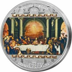 Last Supper Masterpieces of Art Easter Edition 93,3g Proof Silver Coin 20$ Cook