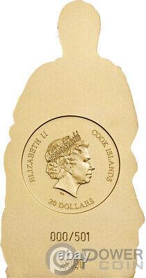 MADONNA OF BRUGES Shaped 3 Oz Silver Coin 20$ Cook Islands 2020