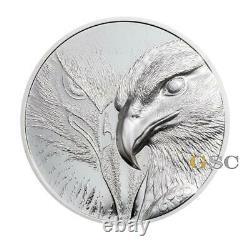 MAJESTIC EAGLE 500 Togrog silver coin Mongolia 2020