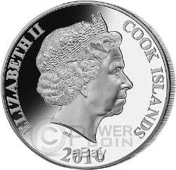 MONKEY MOTHER OF PEARL Lunar Year Series 5 Oz Silver Coin 25$ Cook Islands 2016