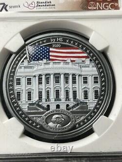 Miles Standish War Of 1812 White House 1 oz. Silver Coin NGC PF70 1600 Minted