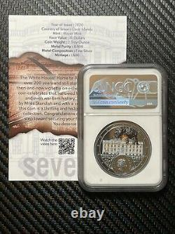 Miles Standish War Of 1812 White House 2 oz. Silver Coin NGC PF70 1600 Minted