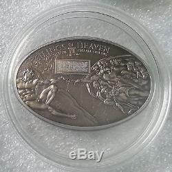 NANO SISTINE CHAPEL Ceilings Heaven Silver Coin $5 dollar Cook Islands 2012