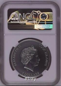 NGC MS70 2019 1ST COIN Cook Islands TRAPPED Silver Coin 1 oz With BOX COA
