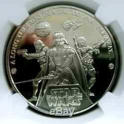 NGC PF69Ultra Cameo-Cook Islands 2005 Star Wars-30th Ann. $1 Almost Perfect PF