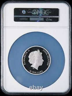 NGC PF70 Cook Islands Egyptian Labyrinth Milestones of Mankind Silver Coin 50g
