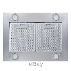 New 36 Island Stainless Steel Glass Range Hood Stove Vents Kitchen Cooking Fan