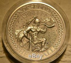 Norse Gods, Heimdall, 2 oz Silver Coin, Cook Islands 2016