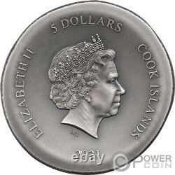 OWL OF ATHENA 1 Oz Silver Coin 5$ Cook Islands 2021