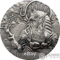 RA SUN GOD Eagle Head Gods Of The World 3 Oz Silver Coin 20$ Cook Islands 2018