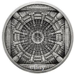 RARE Cook Islands 20$ 2015 4-layer Silver 100gr. AF Beijing TEMPLE OF HEAVEN