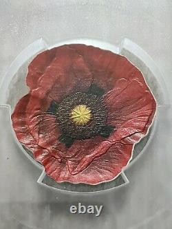 REMEMBRANCE POPPY 2017 $5 Cook Islands. 999 Silver Coin PCGS PL70 First Day