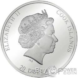 RESURRECTION OF JESUS Tintoretto Easter 3 Oz Silver Coin 20$ Cook Islands 2016