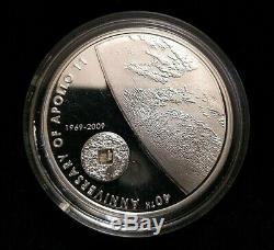 Rare 2009 $5 Cook Island 40th of Apollo 11 Meteorite. 925 Sterling Silver Round