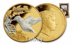 SHADES OF NATURE HUMMINGBIRD 2017 1oz SILVER COIN $5 NGC PF70 UC ER