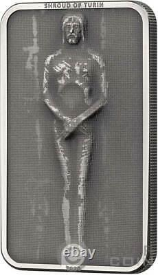 SHROUD OF TURIN Jesus Christ 1 Oz Silver Coin 5$ Cook Islands 2020