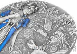 SNOW WHITE Fairy Tales Fables 3 Oz Silver Coin 20$ Cook Islands 2021