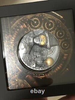 STEAMPUNK 2020 $20 3 OZ SILVER ANTIQUE FINISH COOK ISLANDS COIN, No Any Discount