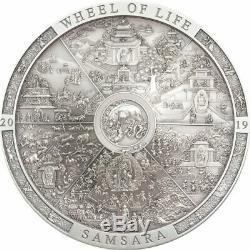 Samsara Wheel Of Life Archeology & Symbolism 20 Dollars 3 Oz Cook Islands 2019