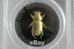 Set of 3 2017 $5 Cook Islands Scarab Beetle 1 oz Silver Gilt PCGS PR70DCAM FDI