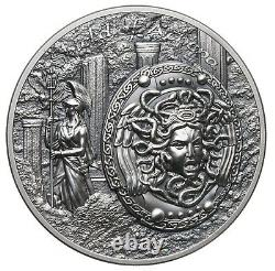 Shield of Athena Aegis, Cook Islands, 10 dollars, 2018, 2 oz. Silver