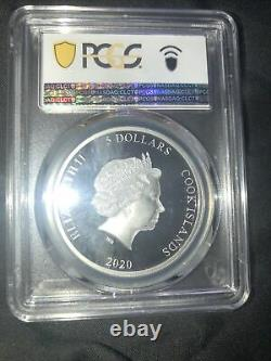 Silver 2020 Cook Islands chameleon PCGS PR69DCAM First Day Of Issue