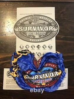 Survivor Cook Islands blue Rarotonga buff New withcard and tags