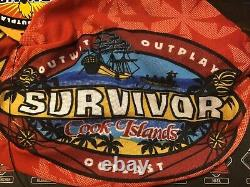 Survivor Cook Islands red Aitutaki buff New withcard and tags